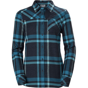 Helly Hansen Classic Check Langarm Shirt Damen north sea blue plaid